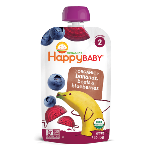 Happy Baby Stage 2 Simple Combos Bananas, Beets & Blueberries
