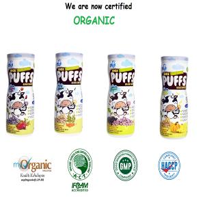 Combo Of 4 Mini Munchy Organic Rice Puffs