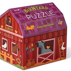 Crocodile Creek Double Fun Puzzle in Barn Shaped Box Barnyard