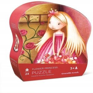 Crocodile Creek Mini Shaped Puzzle Flower Princess