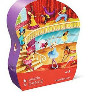Crocodile Creek shaped box puzzle 72pc dance