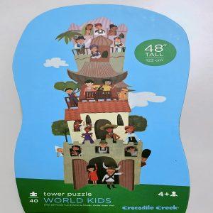 Crocodile Creek Tower Puzzle World Kids