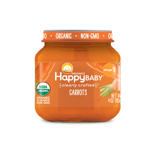 Happy Baby Clearly Crafted Jar Stage 1 - Carrots