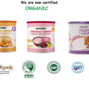 Natufoodies Organic Rice Porridge With Prebiotics