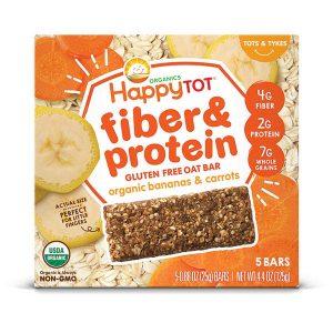 Happy Tot Fiber & Protein Gluten Soft-Baked Oat Bar-125gm