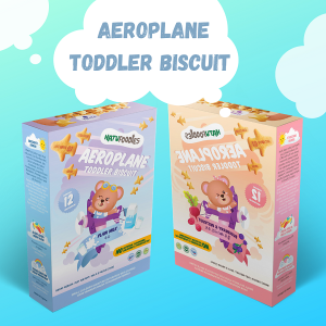 Natufoodies Aeroplane Toddler Biscuit 150gm