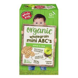 Whole Kids Organic Wholegrain Mini ABC's - Apple & Chia