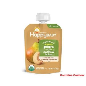 Happy Baby Organic Nutty Blends Pear & Cashew Butter