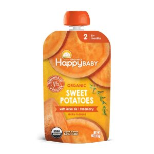 Happy Baby Organic Savory Blends Stage 2 Sweet Potatoes with olive oil + rosemary